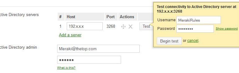 Cisco Meraki Active Directory and LDAP Server support